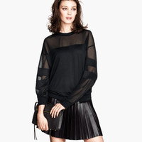 H&M - Pleated Skirt - Black - Ladies