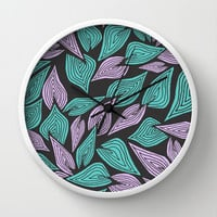 Winter Wind Wall Clock by Pom Graphic Design