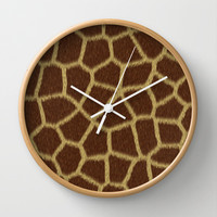 Animal Patterns - Giraffe Wall Clock by Texnotropio