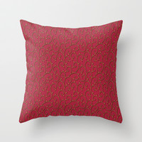 Delicate Vines Throw Pillow by Texnotropio