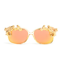 MOO | Mirrored Sunglasses with Porcelain Tips | Browns fashion & designer clothes & clothing