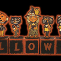 Halloweentown Store: Wooden Halloween Blocks