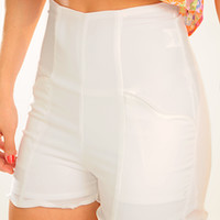 All I Want Is You Shorts: White | Hope's