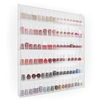 Nail Polish Wall Rack Organizer Holds up to 102 Bottles