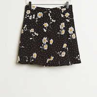 Retro Gold Challis Skirt at PacSun.com