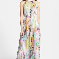 Ted Baker London 'Electric Daydream' Print Pleated Maxi Dress | Nordstrom