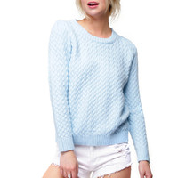 Cotton Candy Sky Blue Sweater