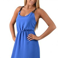 Periwinkle Day Dress with Stringy Racerback