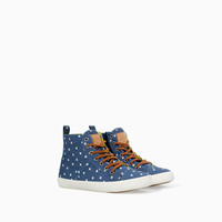 STARS PRINT BASKETBALL BOOT