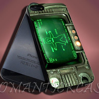 Pipboy 3000 Fall Out - iPhone 4/4s/5c/5s/5 Case - Samsung Galaxy S3/S4 Case - Black or White