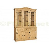 Heartlands Furniture Corona 3 Door Buffet and 2 Door 5 Drawer Hutch set
