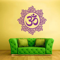 Wall Decal Vinyl Mural Sticker Art Decor Bedroom Flowers Mandala Menhdi Curly Om Hindu Buddha (z2359)