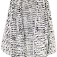 ROMWE Waved Buttonless Grey Cardigan