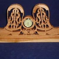 Cowboy Boot Desk Clock Western Time Piece Handmade From Cherry Wood