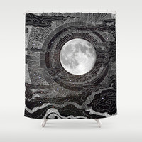 Moon Glow Shower Curtain by brenda erickson
