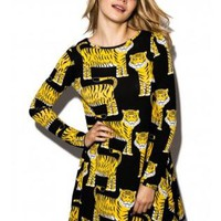 Grrrrrreat Tiger Print Swing Dress