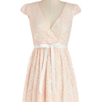 Poised in Peach Dress | Mod Retro Vintage Dresses | ModCloth.com