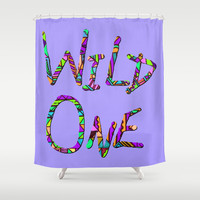 Wild One Three Shower Curtain by Lisa Argyropoulos