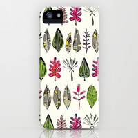 leaves and feathers iPhone & iPod Case by Sharon Turner