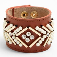 Nordstrom 'Layers of Love' Embellished Leather Bracelet | Nordstrom