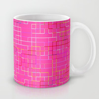 Re-Created SquaresXXIX  Mug by Robert S. Lee