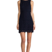 Alice + Olivia Ingrid A-Line Dress in Navy from REVOLVEclothing.com