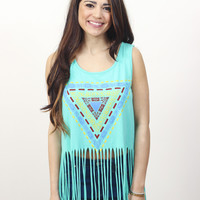 Fringe Crop Top » Vertage Clothing