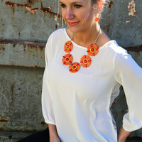 Orange Petal Necklace