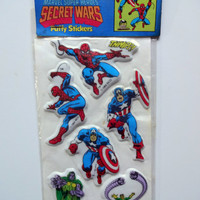 Vintage Marvel Secret Wars Puffy Stickers 1984