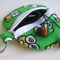 Keroppi Circle Earbud Holder Pouch / Sanrio Coin Purse
