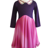 Girls Sparkly Dress | Pink Purple | Girls Holiday Dresses