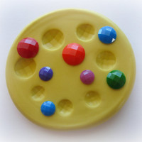 Gem Mold Faceted Jewel Resin Clay Fondant Mould