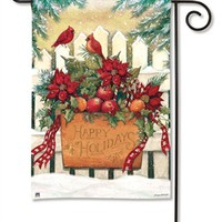 Holiday Gate Garden Flag