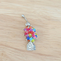 Up House Belly Ring; Balloon House Belly Button Ring