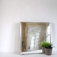 Midcentury Mirror Op Art Wall Hanging / Square