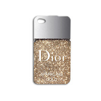 Nail Polish iPhone Case Cute iPod Case Beautiful Phone Case iPhone 4 iPhone 5 iPhone 5s iPhone 4s Gold iPod 4 Case Glitter iPod 5 Case