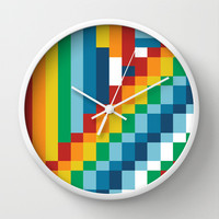 Fuzzline #4 Wall Clock by Project M