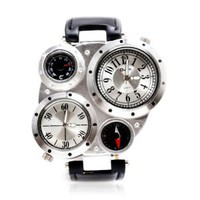 ZLYC Men's Compass Thermometer Sports Watch