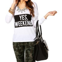 IvoryBlack Yes, Weekend Dolman Top