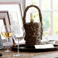 Grapevine Wine Bottle Basket