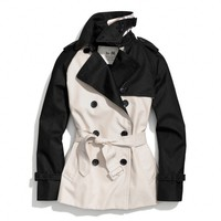 COLORBLOCK SHORT TRENCH