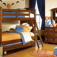 Chapman Cherry Twin over Twin Bunk Beds