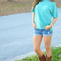 Southern Grace Sweet Tea Shirt: Seafoam | Hope's