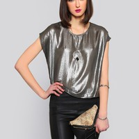 METALLIC MOON TOP