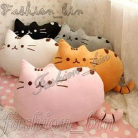 Multi Pusheen Shape Cat Pillow Cushion Soft Plush Toy Doll Home Sofa Decoration