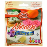 Betty Crocker Writing Icing Neon Gel Food Colors - 4 CT