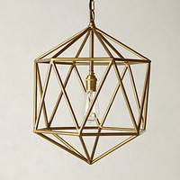 Euclidean Pendant by Anthropologie Brown One Size Lighting