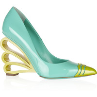 Nicholas Kirkwood Patent-leather pumps – 58% at THE OUTNET.COM