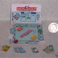 Four Miniature Board Game Sets For Scrapbooking, Dollhouses, Barbie, Collecting, etc. Set 1