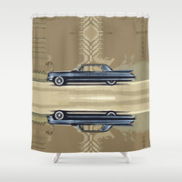 1961 Cadillac Fleetwood Sixty-Special ~ An Artist's Impression  Shower Curtain by Bruce Stanfield
